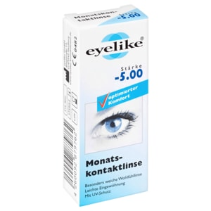 Eyelike Monatskontaktlinse Stärke -5,00