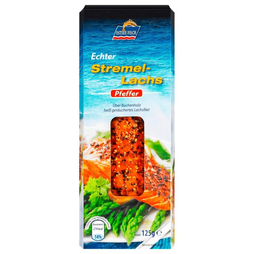 Ostsee Fisch Stremellachs Pfeffer 125g