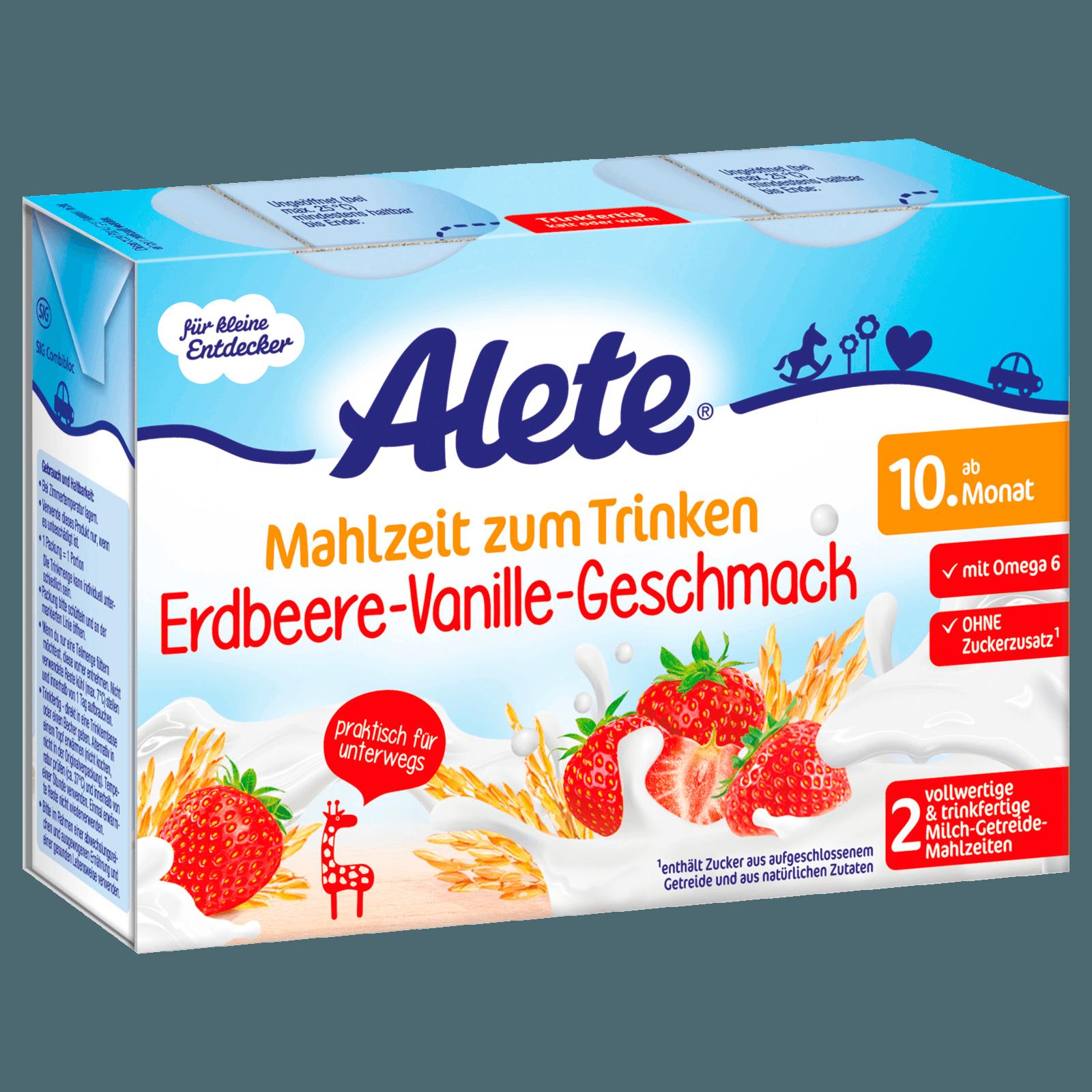 Alete Mahlzeit zum Trinken Erdbeere-Vanille-Geschack 2x200ml