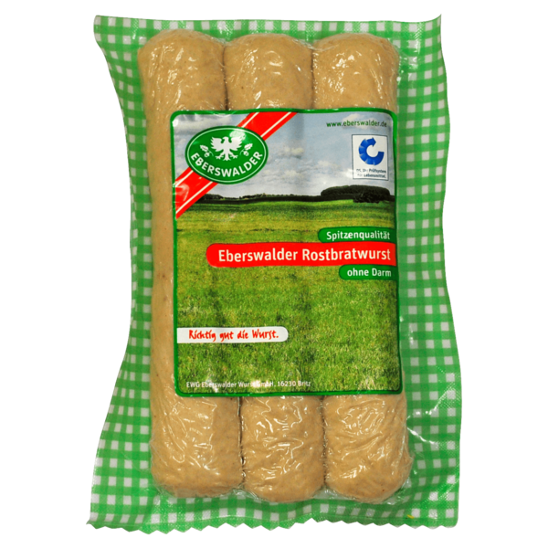 Eberswalder Rostbratwurst ohne Darm 300g, 3 Stück