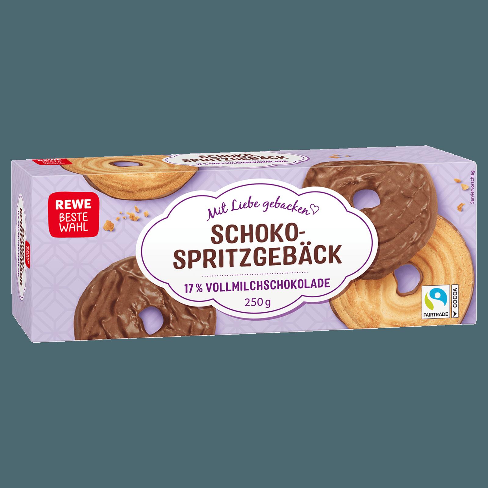 Rewe Beste Wahl Schoko Spritzgeback 250g Bei Rewe Online Bestellen