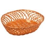 Brot- und Obstkorb aus Kunststoffgeflecht, spülmaschinengeeignet, Maße: 31 x 23,5 x 8,5 cm