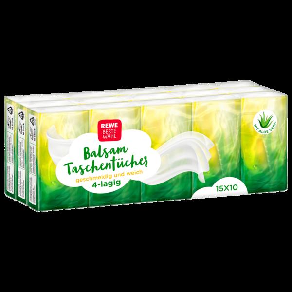 REWE Beste Wahl Balsam Taschentücher 15x10 Stück