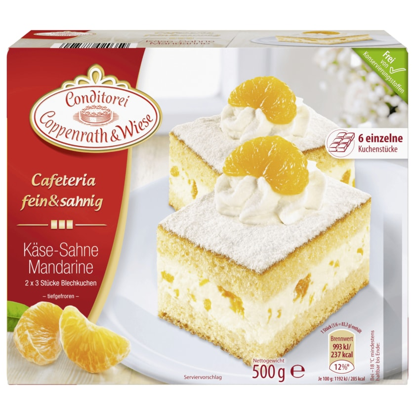Coppenrath & Wiese Käse-Sahne-Mandarinen-Blechkuchen 500g