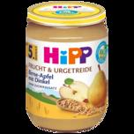 Hipp Frucht & Getreide Birne in Apfel mit Dinkel 190g