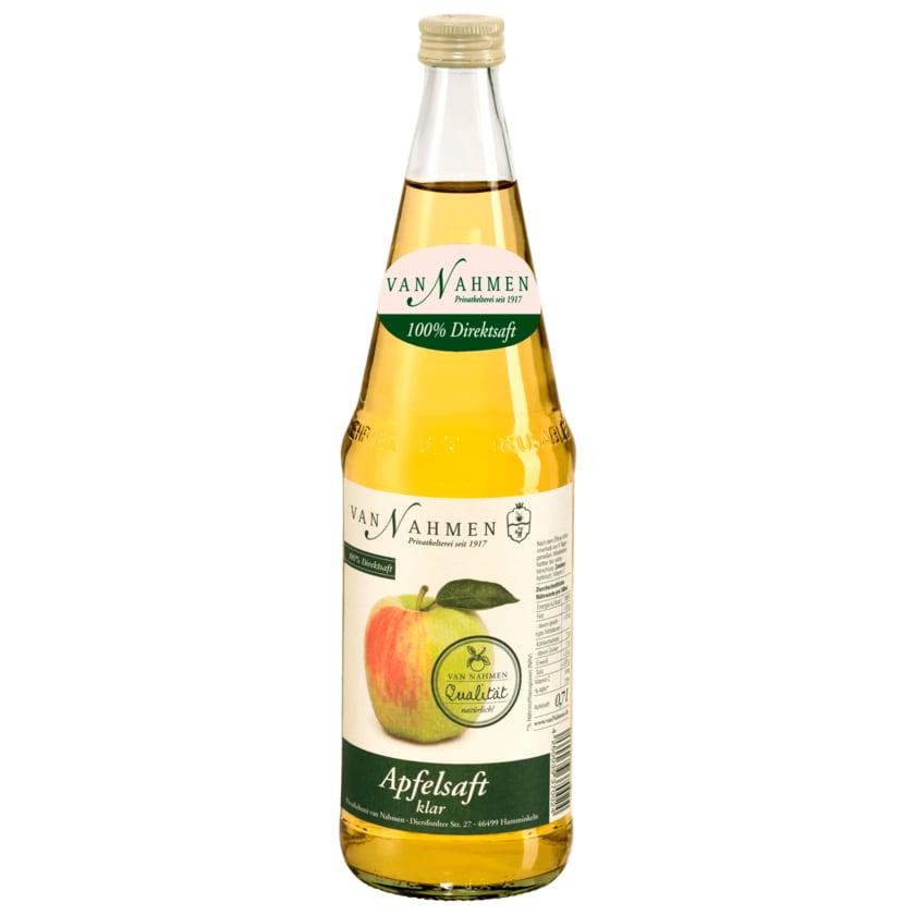 Van Nahmen Apfelsaft klar 0,7l