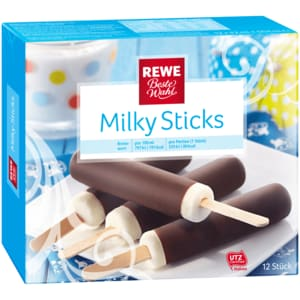 REWE Beste Wahl Milky Sticks mit Schoko 42ml, 12 Stück
