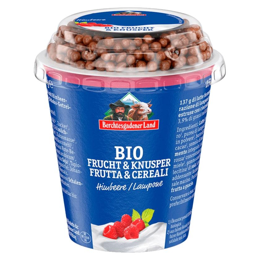 Berchtesgadener Land Bio-Frucht & Knusper Joghurt Himbeere 150g