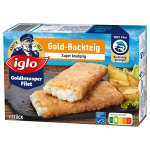 Iglo Goldknusper-Filets im Gold-Backteig 300g
