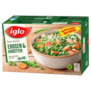 Iglo Rahm-Gemüse Erbsen & Karotten 480g