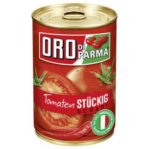 Oro di Parma Stückige Tomaten scharf 400g