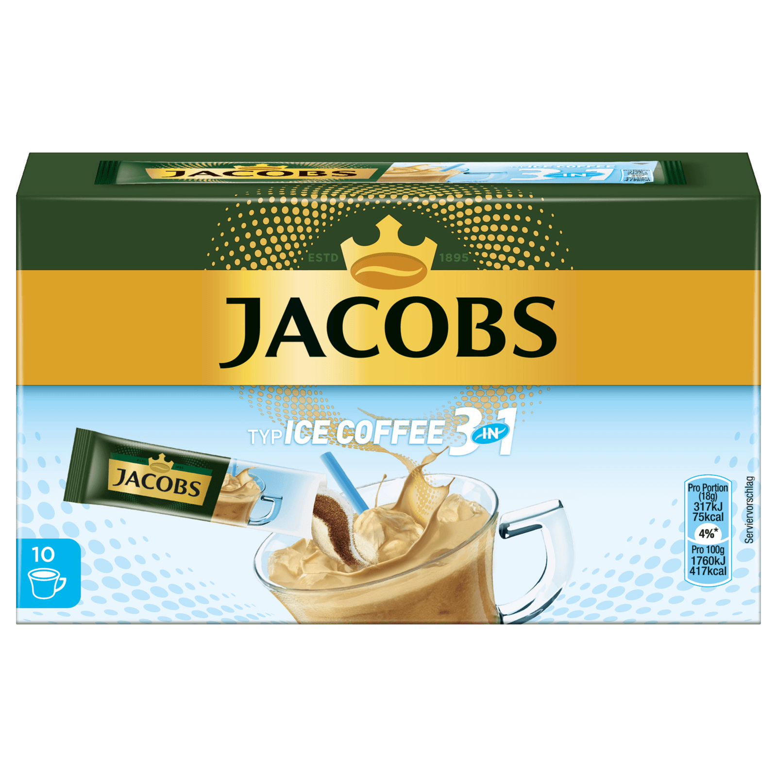 Jacobs Ice Coffee 3in1 180g, 10 Stück bei REWE online bestellen!