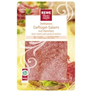 REWE Beste Wahl Delikatess-Geflügelsalami 80g