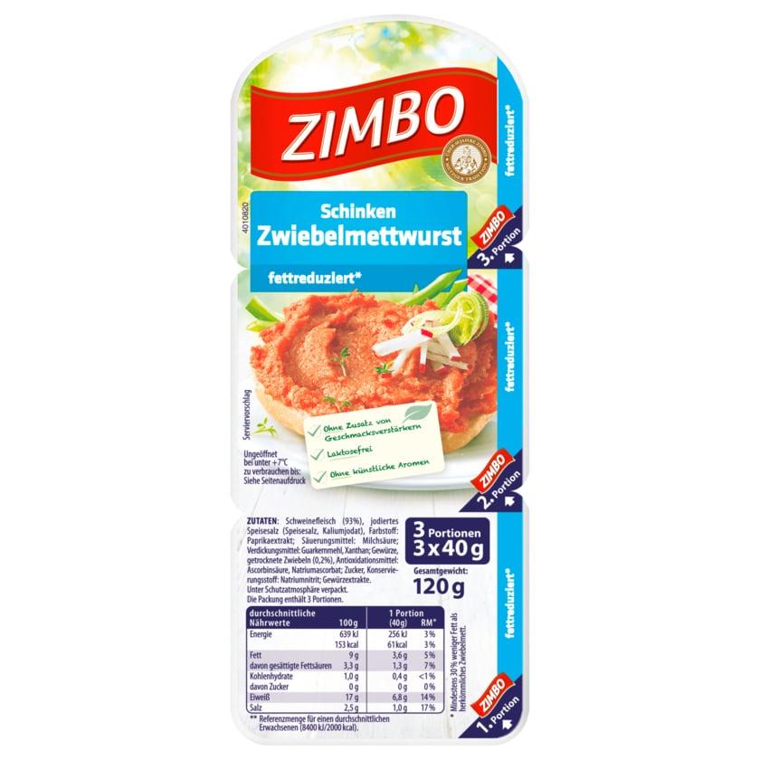 Zimbo Schinken Zwiebelmettwurst 120g