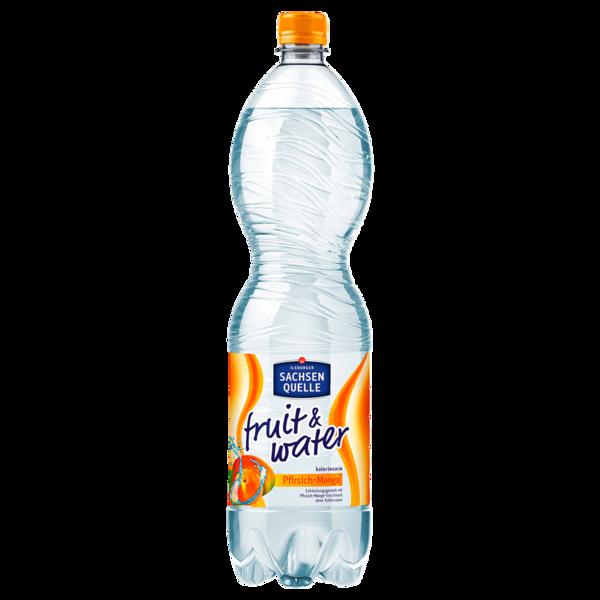 Ileburger Sachsenquelle Fruit & Water Pfirsich-Mango 1,5l