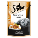 Sheba Katzenfutter Delikatesse in Gelee mit Truthahn 85g