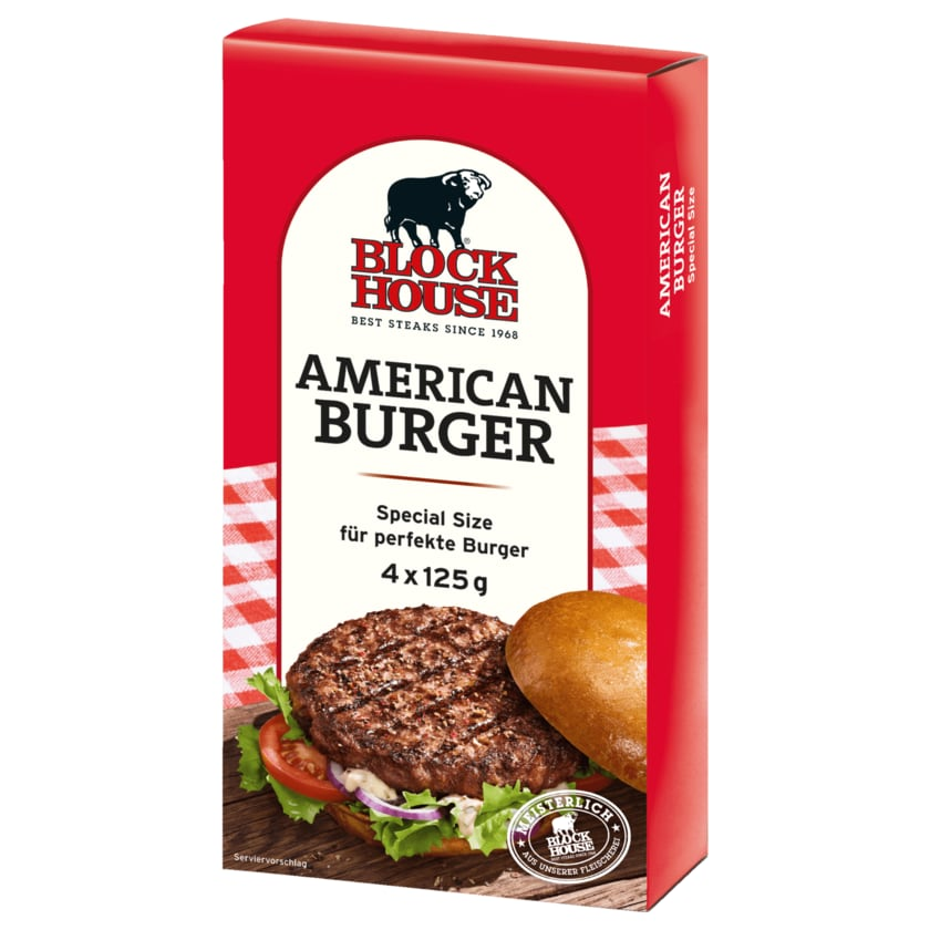 Block House American Burger Special Size 500g, 4 Stück