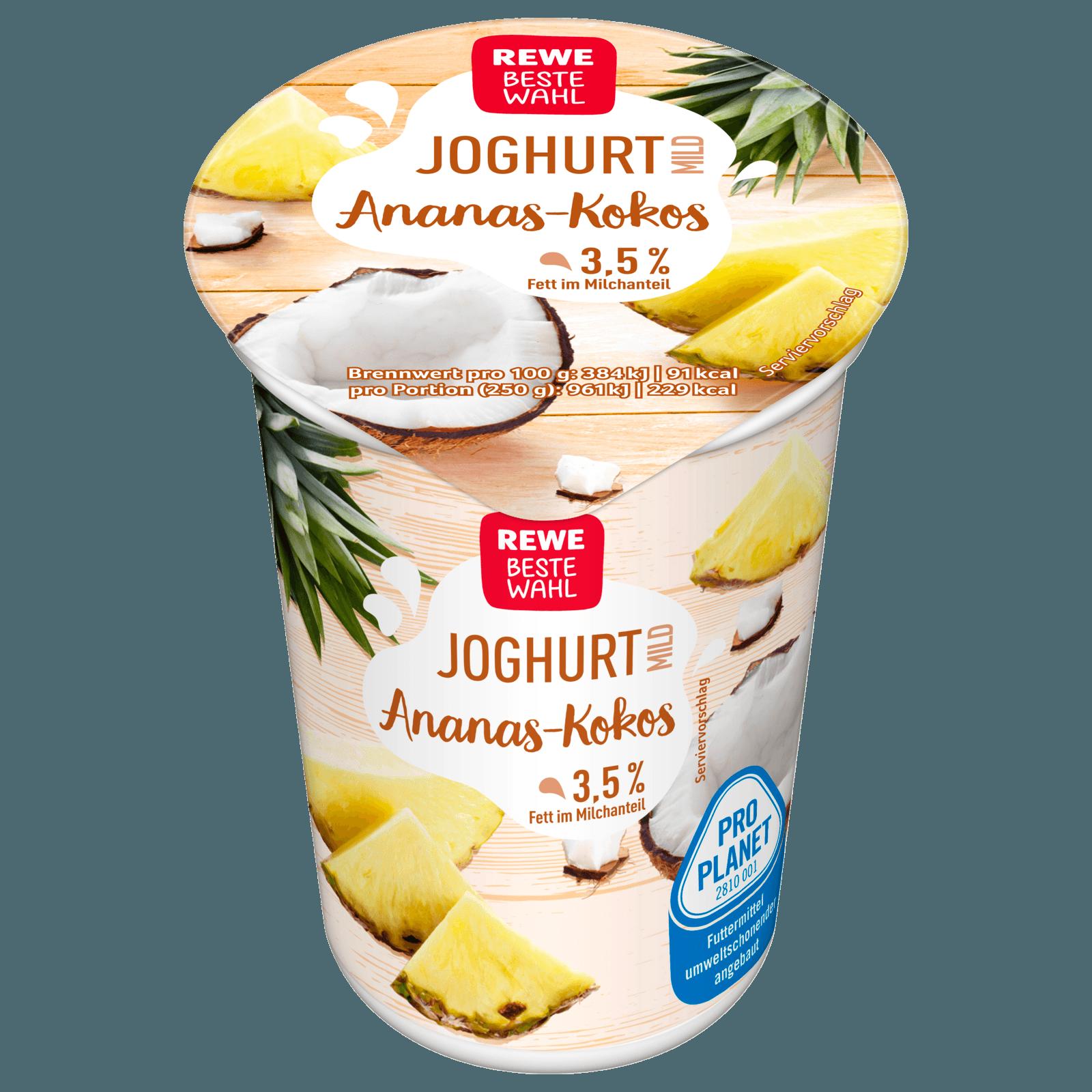 REWE Beste Wahl Joghurt mild Ananas-Kokos 250g