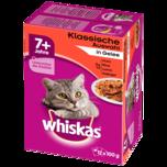 Whiskas Katzenfutter 7+ Klassische Auswahl in Sauce 12x100g