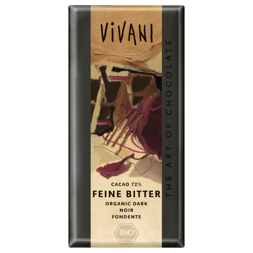 Vivani Bio Feine Bitter Schokolade 72% Cacao 100g
