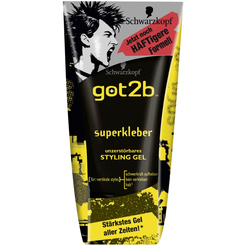 Schwarzkopf got2b Superkleber Styling-Gel 150ml