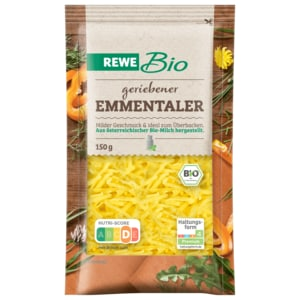 REWE Bio Emmentaler gerieben 150g