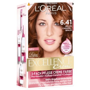 L'Oréal Paris Excellence 6.41 sehr helles Caramelbraun