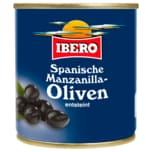 Ibero Manzanilla Oliven schwarz entsteint 85g