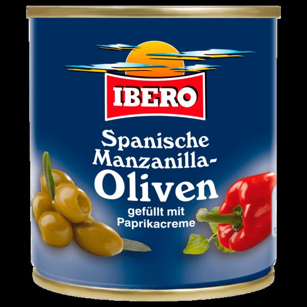 Ibero Spanische Manzanilla-Oliven mit Paprikapaste 85g