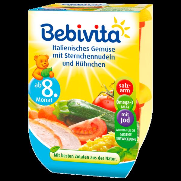 Bebivita Gemüse mit Sternchennudeln und Hühnchen 220g