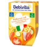 Bebivita Makkaroni auf Tomate-Zucchini mit Putenfleisch 250g