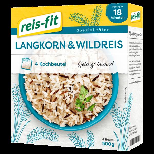 Reis-fit Spitzen-Langkorn- & Wildreis 500g