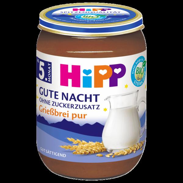 Hipp Gute Nacht Grießbrei pur ohne Zuckerzusatz 190g