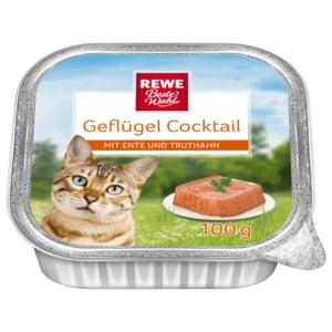 REWE Beste Wahl Katzenfutter Geflügel-Cocktail mit Ente & Truthahn 100g
