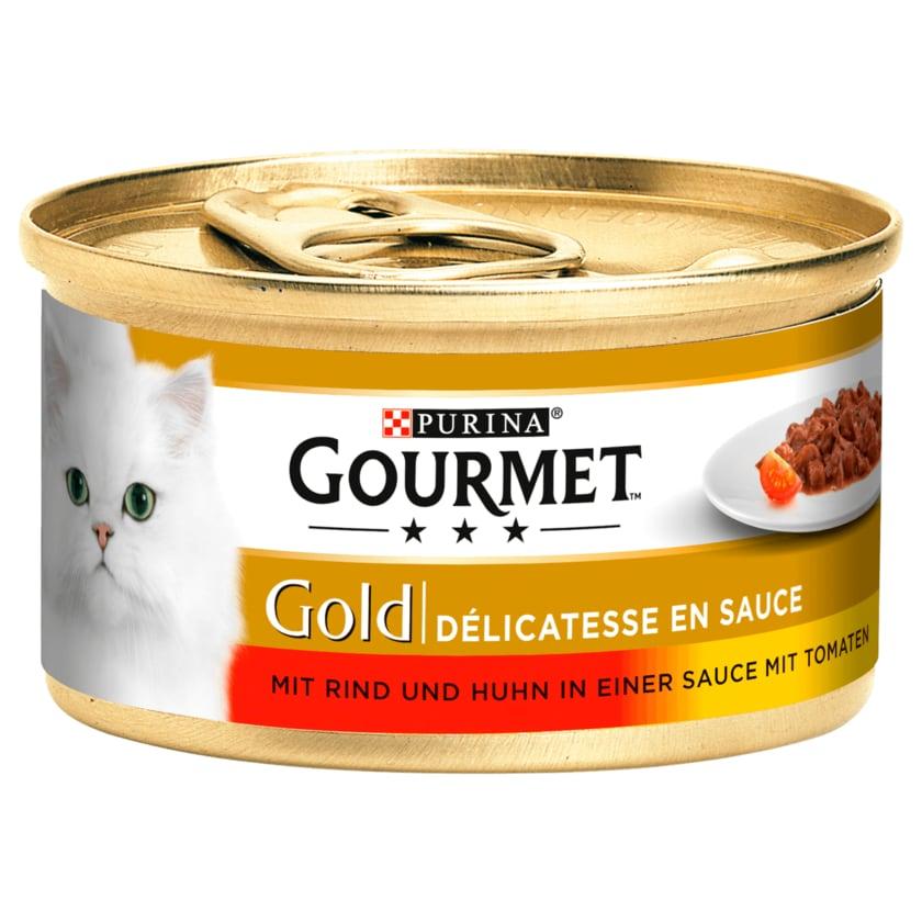 Gourmet Gold Mit Rind & Huhn in einer Sauce mit Tomaten 85g