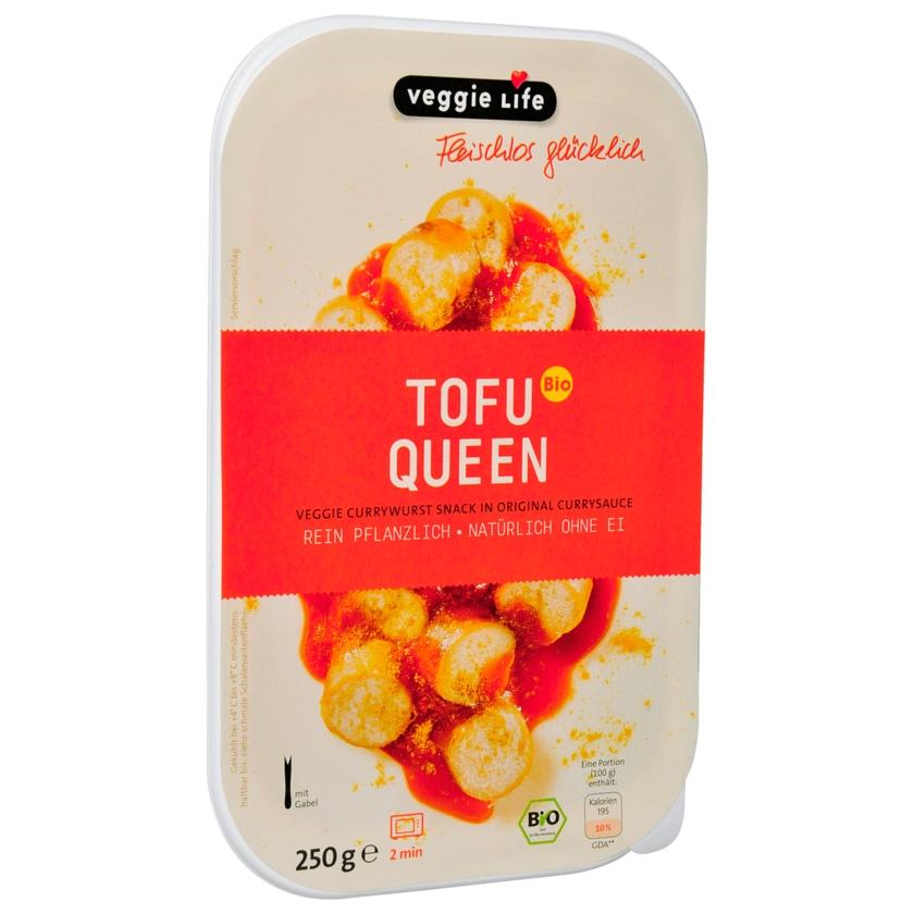 Veggie Life Bio Vegane Currywurst Tofu Queen vegan 250g