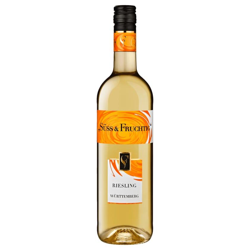 Württemberg Süß und Fruchtig Weißwein Riesling QbA 0,75l