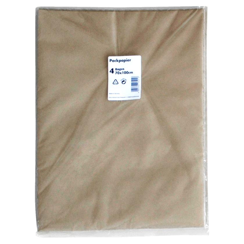 Braunes Packpapier 70x100cm 4 Stück