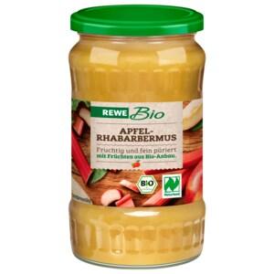 REWE Bio Apfel-Rhabarbermus 370ml