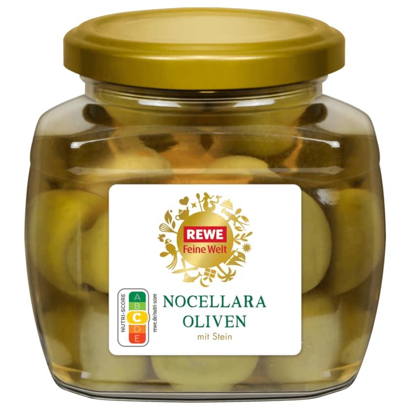 REWE Feine Welt Nocellara Oliven mit Stein 135g