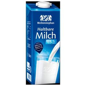 Weihenstephan Haltbare Alpenmilch 1,5% 1l