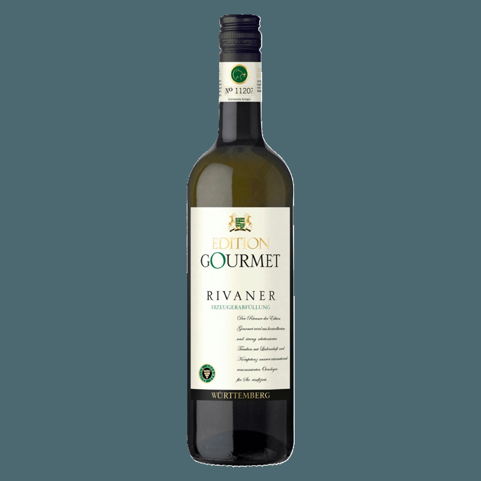 Württemberger Weißwein Rivaner Edition Gourmet halbtrocken 0,75l