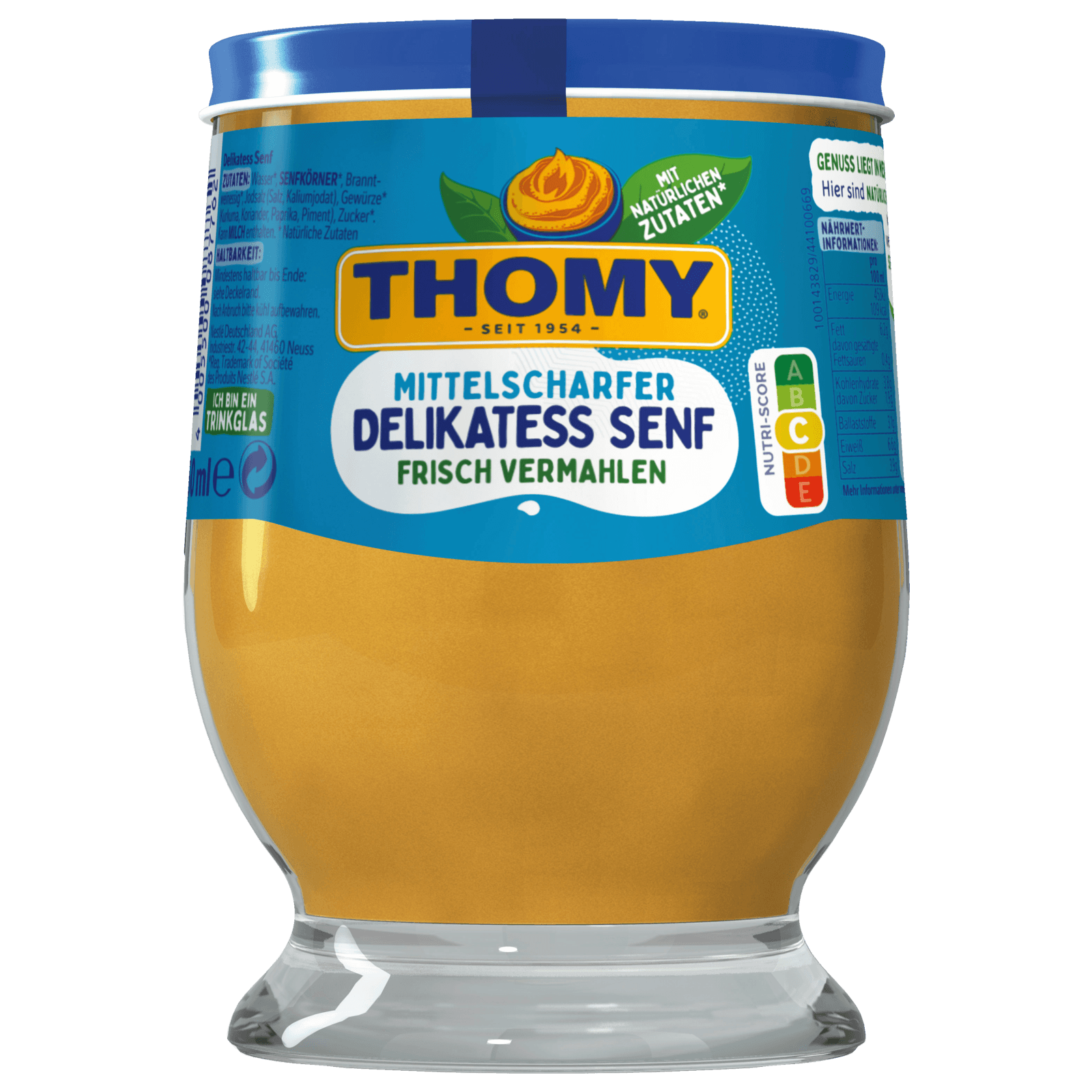 THOMY Delikatess Senf 250ml Glas