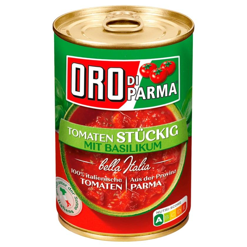 Oro di Parma Stückige Tomaten mit Basilikum 400g
