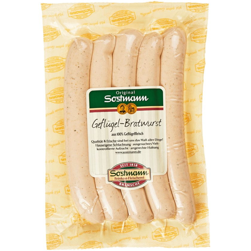Sostmann Geflügel-Bratwurst 300g
