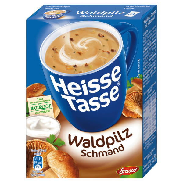 Erasco Heisse Tasse Crème Waldpilz-Schmand 3x150ml