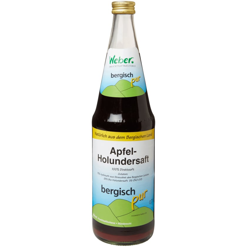 Bergisch pur Apfel-Holundersaft 0,7l