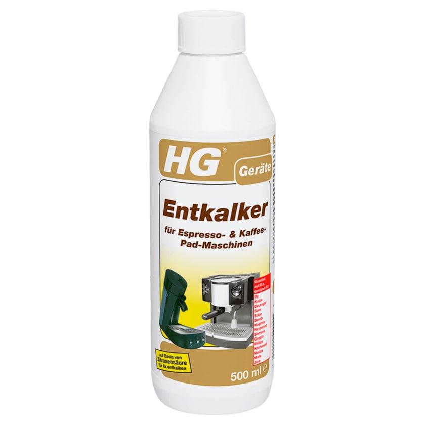 HG Entkalker für Espresso- & Kaffee-Pad-Maschinen 500ml
