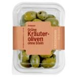 Grossmann Grüne Kräuter-Oliven ohne Stein 160g