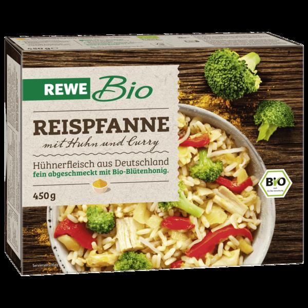 REWE Bio Reispfanne mit Huhn und Curry 450g